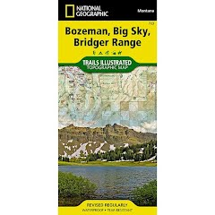 National Geographic Bozeman, Big Sky Bridger Range Trail Map Image