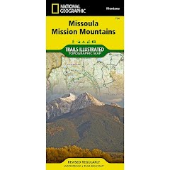 National Geographic Missoula, Mission Mountains Trail Map Image