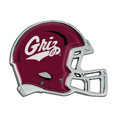Wincraft University of Montana Griz Chrome Metal Domed Emblem Image