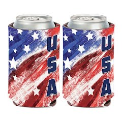 Wincraft Patriotic USA Stars and Stripes Can Cooler Image
