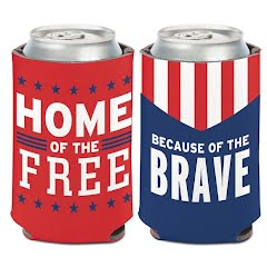 Wincraft Patriotic Home Of The Free Can Cooler Image