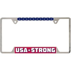 Wincraft Patriotic USA Strong Metal License Plate Frame Image