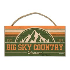 Wincraft Big Sky Country Montana Wood Sign with Rope Image