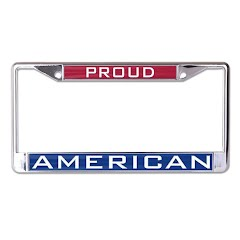 Wincraft Patriotic American Inlaid Metal License Plate Frame Image