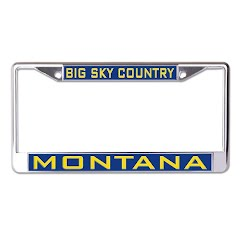 Wincraft Montana Big Sky Country Inlaid Metal License Plate Frame Image