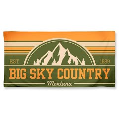 Wincraft Big Sky Country Montana Spectra Beach Towel Image