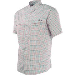 Huk Men's Tide Point Woven Plaid Short Sleeve Shirt