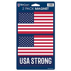 Wincraft USA Strong Patriotic Flag Magnets (2 Pack) Image