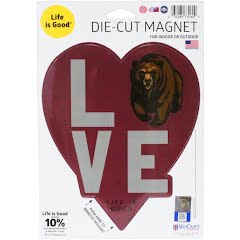 Wincraft Life Is Good U of M Griz Love Die-Cut Magnet Image