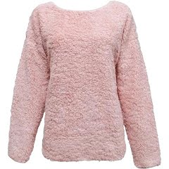 Pacific Teaze Women's Super Soft Sherpa Crew