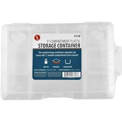 Sona Enterprises 11 Compartment Storage Box with Snap-Lock Image