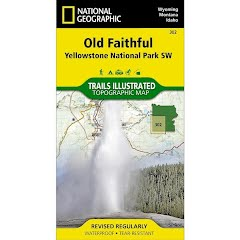 National Geographic Old Faithful: Yellowstone National Park SW Trail Map #302 Image