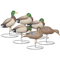 Hard Core Rugged Full Body Mallard Touchdown Pack Decoys Image