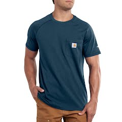 Carhartt Men's Force Cotton Delmont Short Sleeve Tee Image