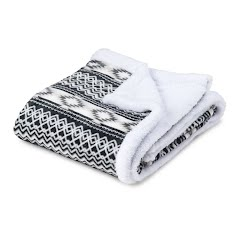 Trail Crest Plush Coral Fleect Nordic/Aztec Double Layer Blanket Image