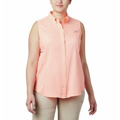 Columbia Women's PFG Tamiami Sleeveless Shirt (Extended Sizes) Image