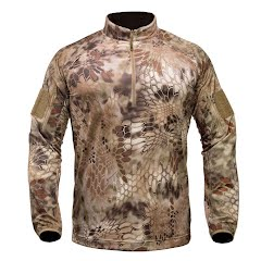 Kryptek Apparel Men's Valhalla Long Sleeve Zip Extended Sizes Image