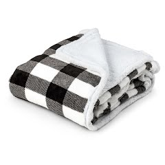 Trail Crest Plush Coral Fleece Plaid Double Layer Blanket Image