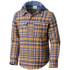 Columbia Youth Boy's Boulder Ridge Flannel Hoodie Image