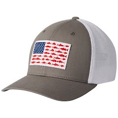 Columbia Men's PFG Mesh Fish Flag Ball Cap Image