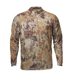 Kryptek Apparel Men's Valhalla 2 Long Sleeve Zip (Extended Sizes) Image
