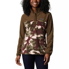 Columbia Women's Benton Springs Printed Half Snap Fleece Pullover Image