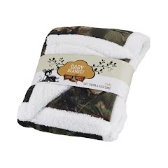 Trail Crest Plush Coral Fleece Camo Baby Blanket Image