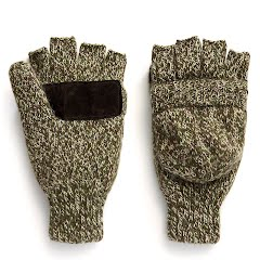 Hot Shot Mens Insulated Ragg Wool Pop-Top Mittens Image