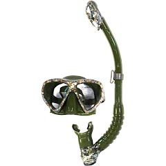 Us Divers Men's Magellan LX Purge Mask and Tucson LX Snorkel Set Image