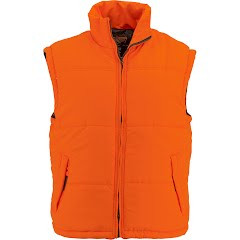 Trail Crest Men's Blaze Orange Insulated Puffer Vest Image
