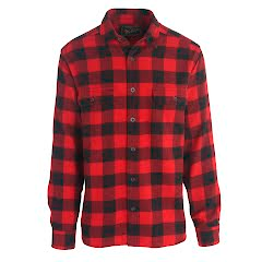 Woolrich Men`s Oxbow Bend Plaid Flannel Shirt: Modern Fit Image