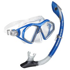 Us Divers Admiral LX 2 Mask and Island Dry Snorkel Combo Image