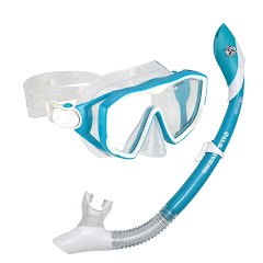 Us Divers Women's Diva LX Mask and Island Dry Snorkel Combo Image
