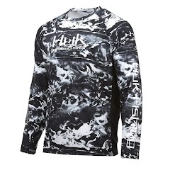 Huk Men's Pursuit Camo Vented Long Sleeve Image