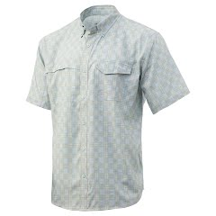 Huk Men's Tide Point Fish Plaid Short Sleeve Shirt Image