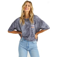 Billabong Women's Rough Waves Boyfriend Tee Image