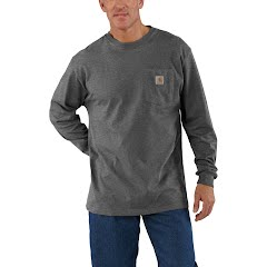 Carhartt Men's  Workwear Pocket Long Sleeve Tee (Extended Sizes) Image