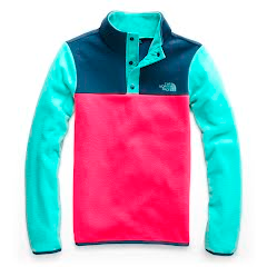 The North Face Youth Girl's Glacier 1/4 Snap Fleece Image