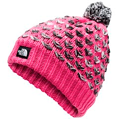 The North Face Youth Girl's Chunky Pom Beanie Image