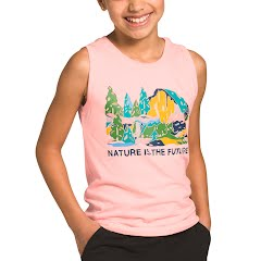 The North Face Youth Girl's Tri-Blend Tank Image