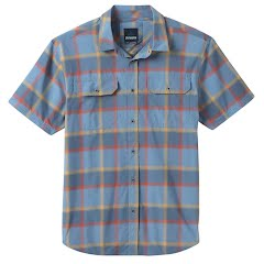 Prana Men's Cayman Plaid Short Sleeve Shirt Image