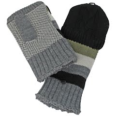 Manzella Women's Striped Knit Convertible Mitt Image