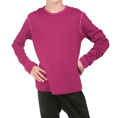 Hot Chillys Youth Pepper Double Layer Crewneck Top Image