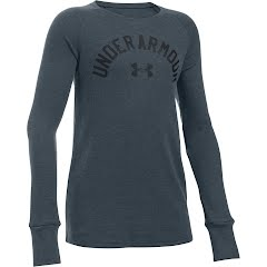 Under Armour Youth Girl's UA Waffle Long Sleeve Image