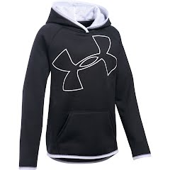 Under Armour Youth Girl`s UA Armour Fleece Jumbo Logo Hoodie Image