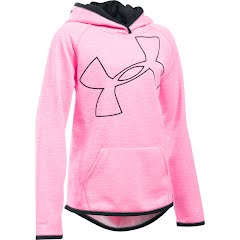 Under Armour Youth Girl's UA Armour Fleece Novelty Jumbo Logo Hoodie Image