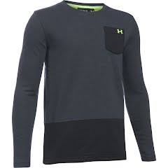 Under Armour Youth Boy's UA French Terry Long Sleeve Shirt Image