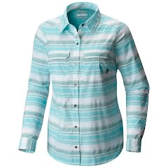 Columbia Women`s Pilsner Peak Stripe Long Sleeve Shirt Image