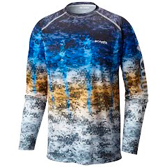 Columbia Men's Terminal Tackle Camo Fade Long Sleeve Shirt Image