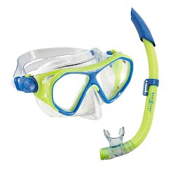 Us Divers Urchin Jr. Mask, Pike Jr. Snorkel and Zinger Jr. Fins Combo Image